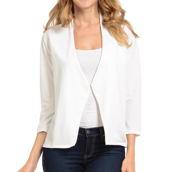 789ba4e8ddd37 White Blazer for Women. Boutique. Magic Fit